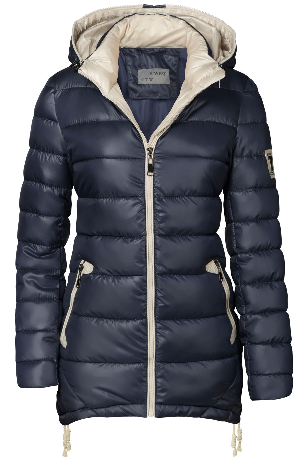 warmer damen stepp winter mantel lang jacke parka steppmantel kapuze zipper ebay. Black Bedroom Furniture Sets. Home Design Ideas