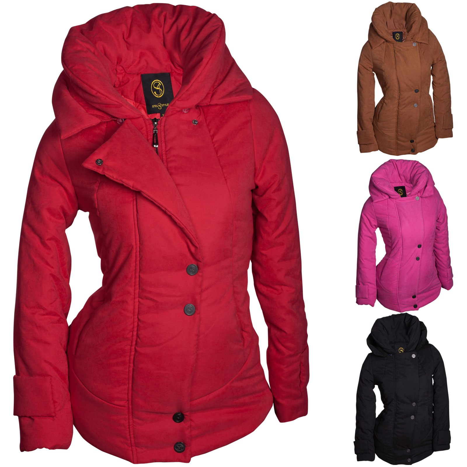 winter damen jacke parka kapuze mantel daunen winterjacke outdoor warm s m l xl damen mode jacken. Black Bedroom Furniture Sets. Home Design Ideas